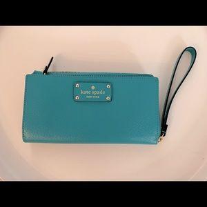 Kate Spade New clutch wallet wristlet color teal
